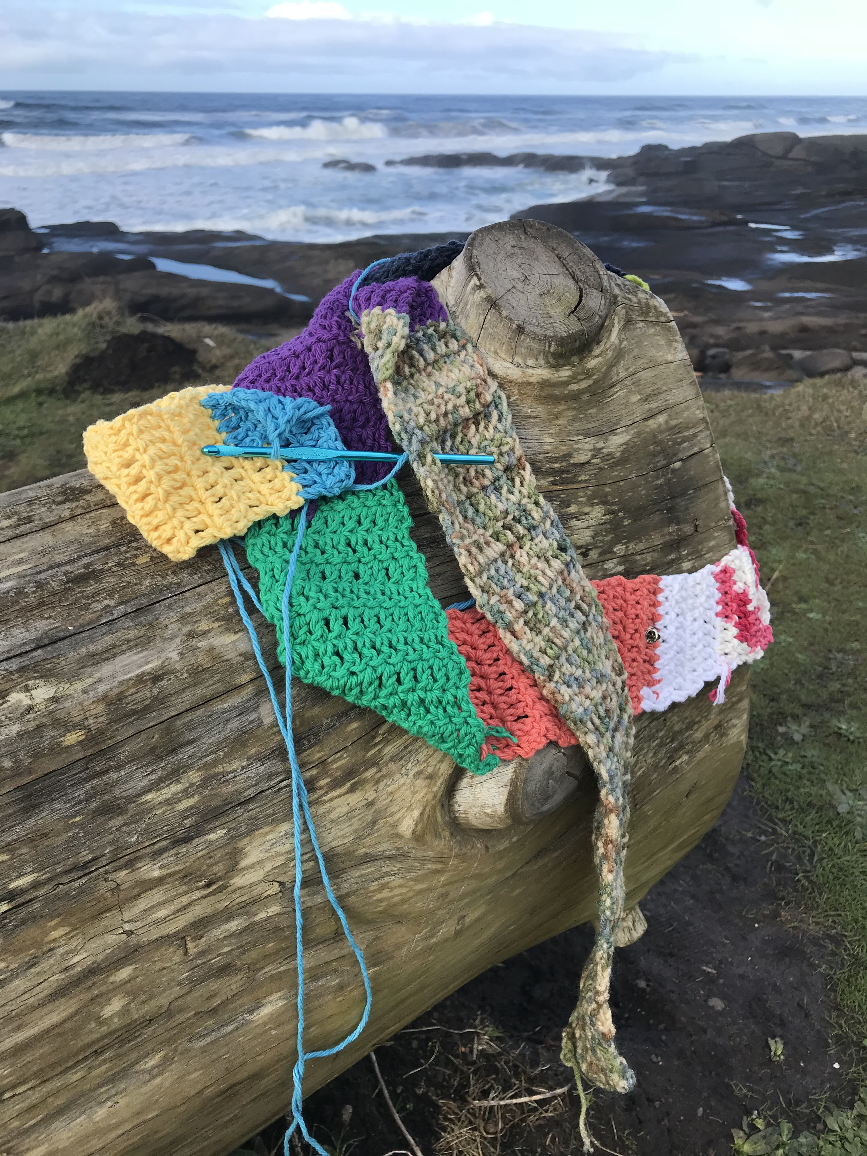 The Ugly Scarf visits Yachats, Oregon