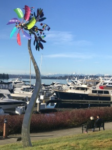 Enjoying the view: Carillon Point Marina, Kirkland, Washington