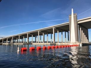Under the Evergreen Point Floating Bridge (aka the 520 bridge)