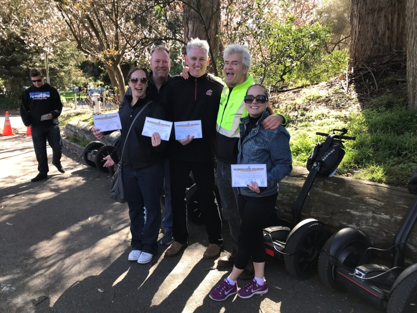 Our merry band of Segway graduates and one proud instructor/tour guide