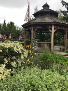 The gazebo and the garden