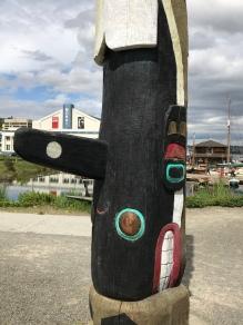 A totem pole near MOHAI