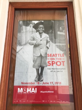 Exhibit promo outside MOHAI's front doors