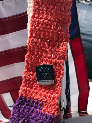 The Ugly Scarf, sporting a Windermere Cup 2018 pin