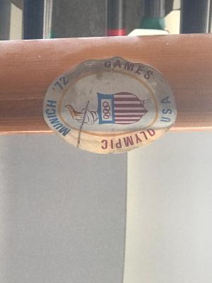 1972 Olympic souvenir oar