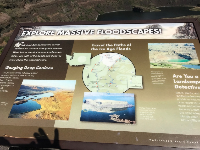 Info overlooking Dry Falls