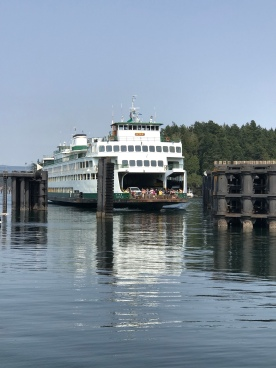 Docking at Friday Harbor, San Juan Island