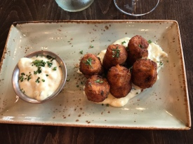Dungeness crab tots… excellent...