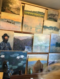 His studio walls