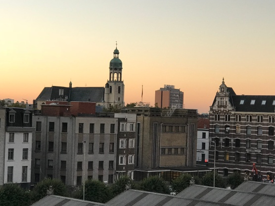 Antwerp's early morning skyline
