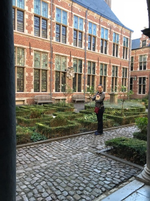 The courtyard and herb garden
