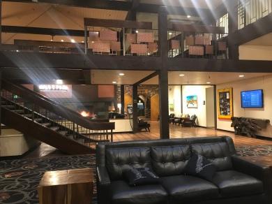 The lobby...