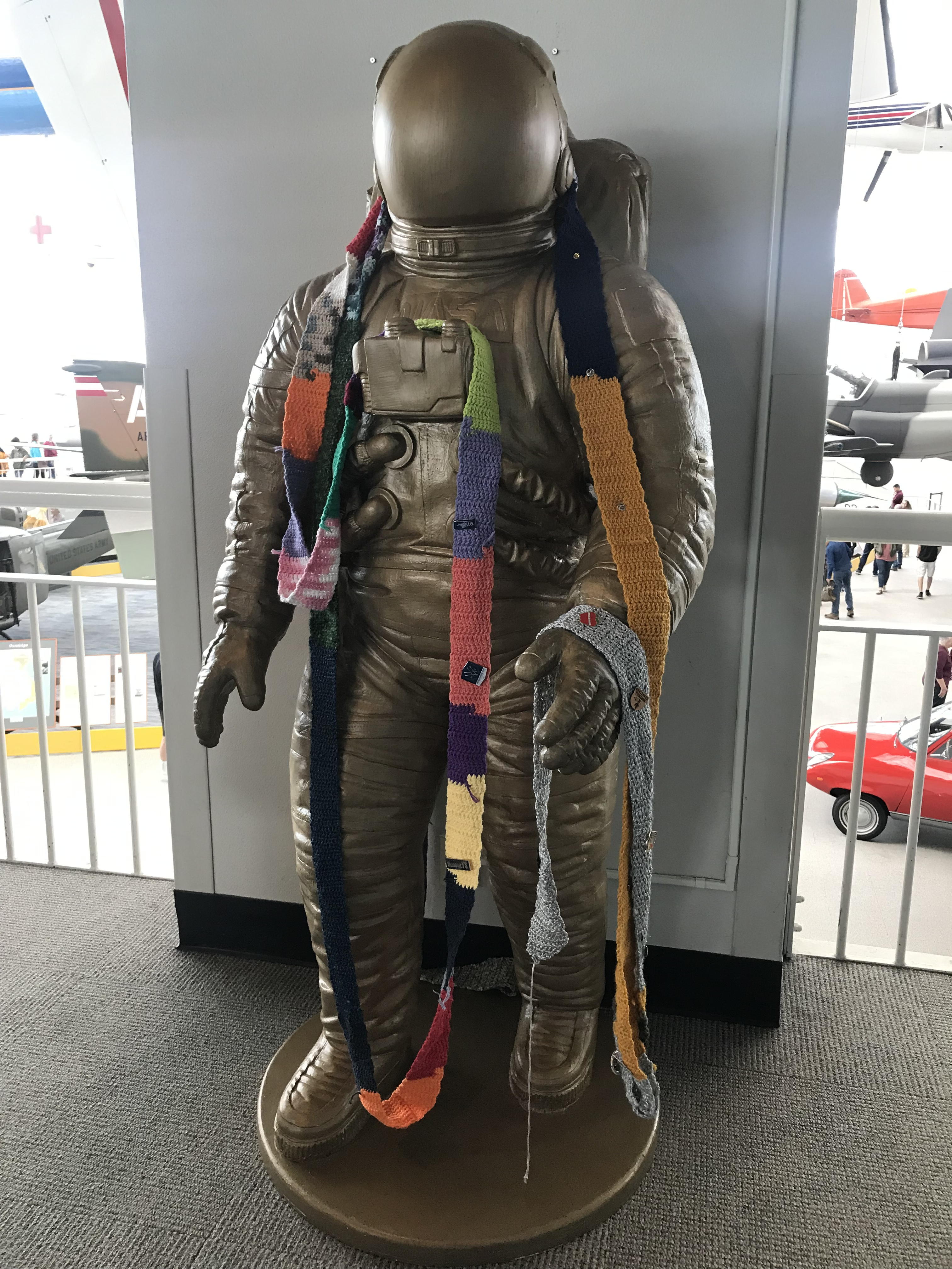 The Ugly Scarf at the Museum of Flight